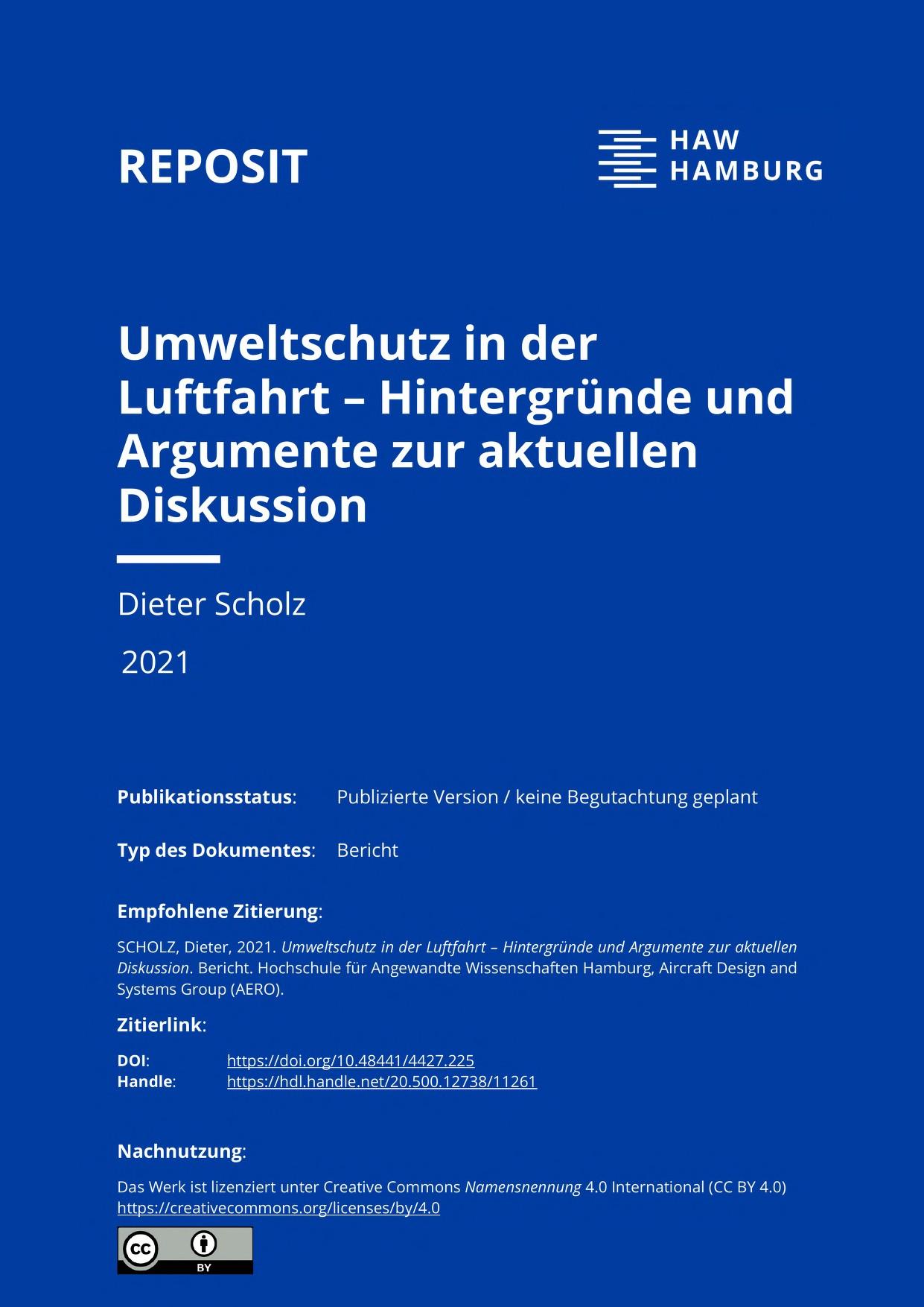 Thumbnail image ofUmweltschutz in der Luftfahrt - Hintergründe...