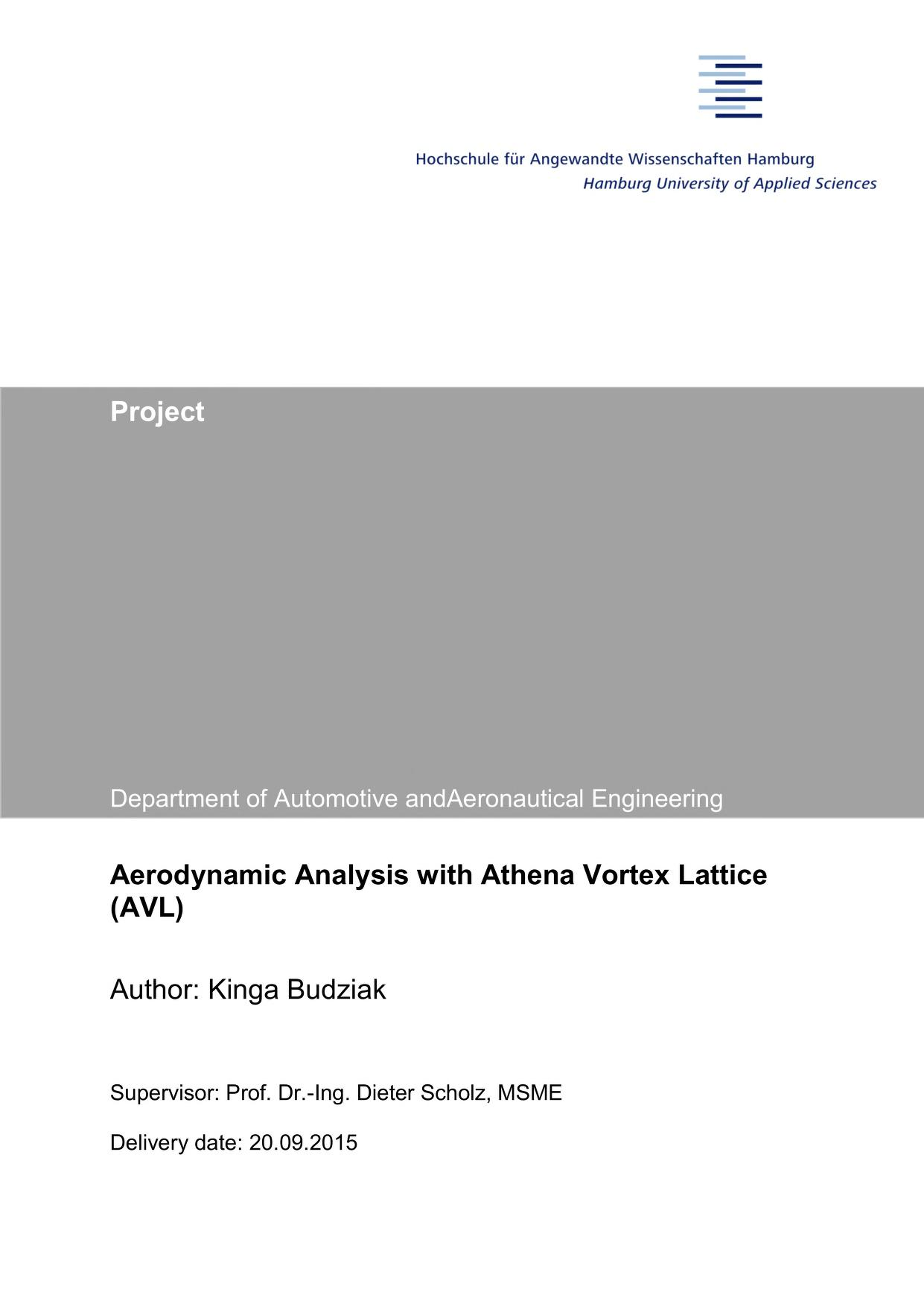 Thumbnail image ofAerodynamic Analysis with Athena Vortex Lattice...