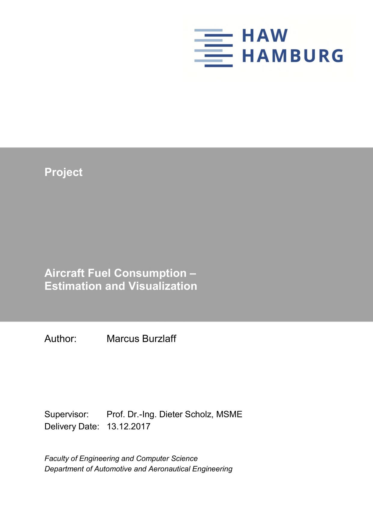 Thumbnail image of Aircraft Fuel Consumption - Estimation and Visualization