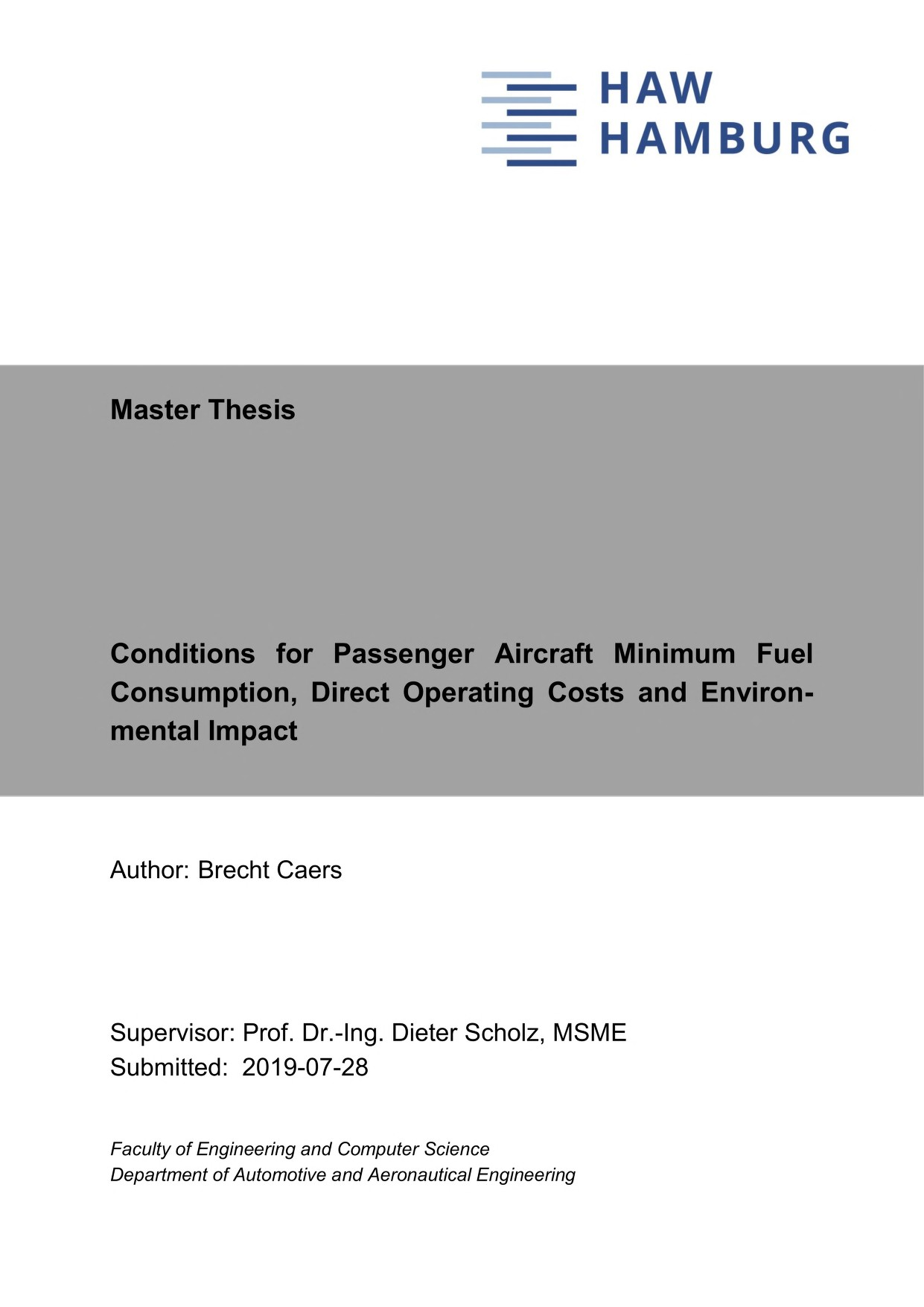 Thumbnail image of Conditions for Passenger Aircraft Minimum Fuel...